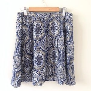 Wet Seal Blue Paisley Skirt Size M NWT